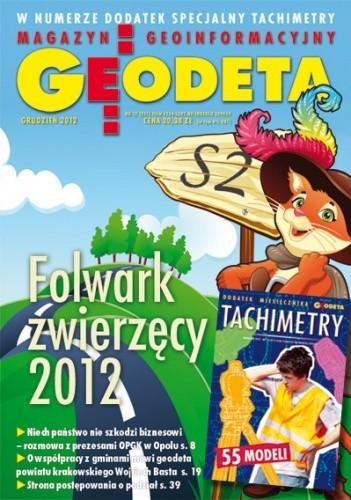 Okładka książki Geodeta. Magazyn geoinformacyjny, nr 12 (211) / 2012