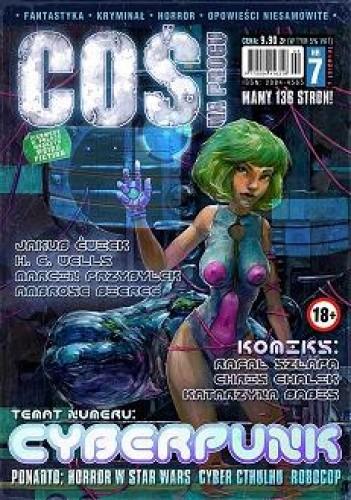 Okładka książki Coś na Progu, nr 7 (Jedyny w Polsce magazyn Weird Fiction)