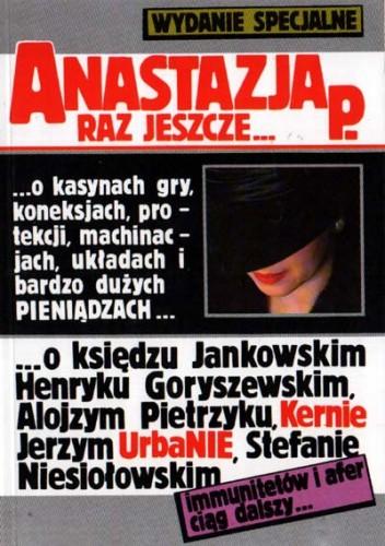 Okładka książki Anastazja P. raz jeszcze