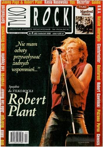 Okładka książki Tylko Rock, nr 4 (80) / 1998