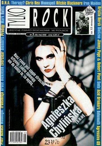 Okładka książki Tylko Rock, nr 5 (81) / 1998