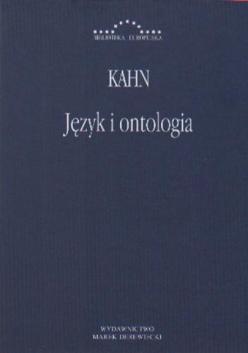 Okładka książki Język i ontologia