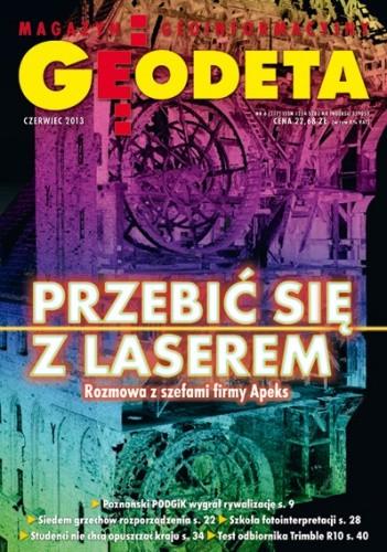Okładka książki Geodeta. Magazyn geoinformacyjny, nr 6 (217) / 2013