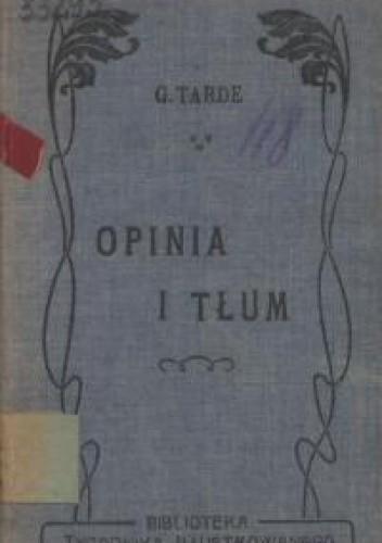Okładka książki Opinia i tłum