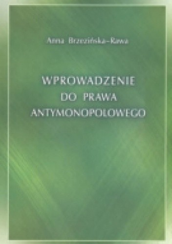 Okładka książki Wprowadzenie do prawa antymonopolowego
