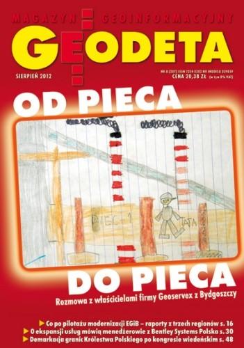 Okładka książki Geodeta. Magazyn geoinformacyjny, nr 8 (207) / 2012