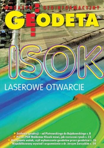 Okładka książki Geodeta. Magazyn geoinformacyjny, nr 7 (206) / 2012