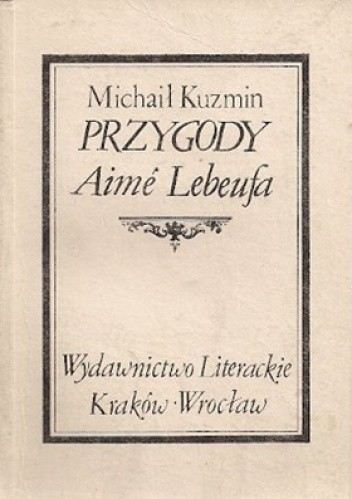 Okładka książki Przygody Aimé Lebeufa