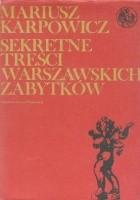 Sekretne treści warszawskich zabytków