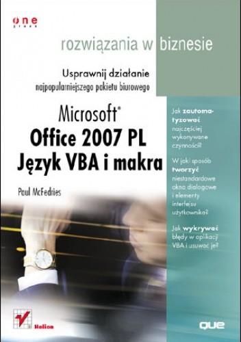 Okładka książki Office 2007. Język VBA i makra. Rozwiązania w biznesie