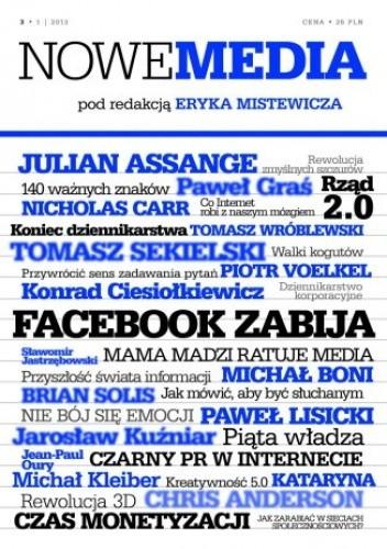 Okładka książki NOWE MEDIA pod redakcją Eryka Mistewicza Kwartalnik 3-1/2013
