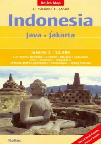 Okładka książki Indonezja. Java, Dżakarta. Mapa