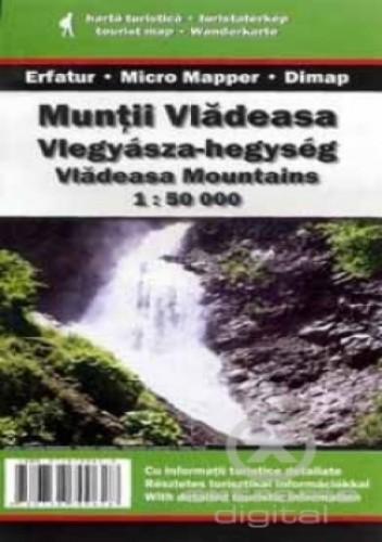 Okładka książki Góry Vlădeasa. Mapa turystyczna