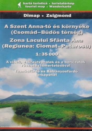 Okładka książki Okolice jeziora św. Anny. Mapa turystyczna