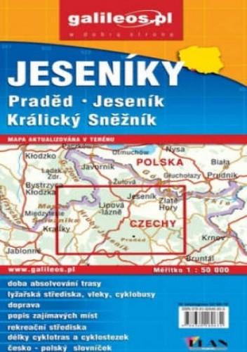 Okładka książki Jeseniky. Praded. Jesenik. Kralicky Sneznik. Mapa [Galileos]