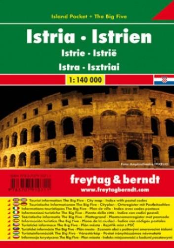Okładka książki Istria. Mapa samochodowa