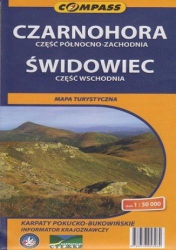 Okładka książki Czarnohora i Świdowiec . Mapa Compass 1:50 000