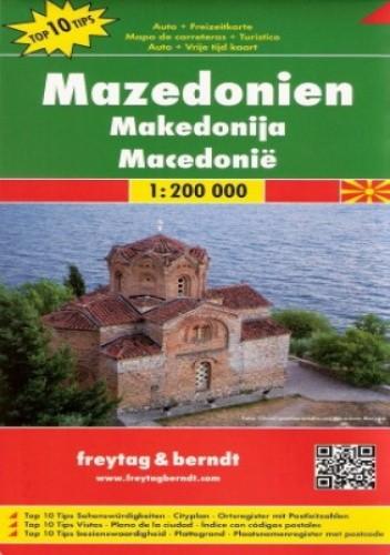 Okładka książki Macedonia. Mapa  Freytag & Berndt / 1:200 000