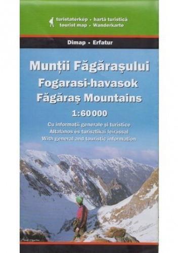 Okładka książki Góry Fogaraskie. Mapa turystyczna Szarvas