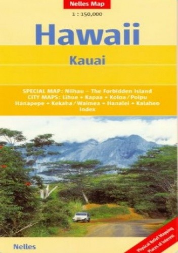 Okładka książki Hawaje. Kauai. Mapa