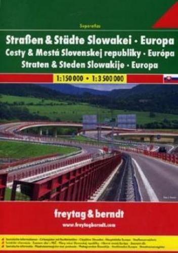 Okładka książki Drogi i miasta Słowacji. Atlas