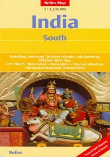 Okładka książki Indie Południowe. Mapa