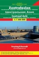 Azja Środkowa (Kazachstan Pd, Kirgistan, Tadżykistan, Turkmenistan, Uzbekistan). Mapa Freytag & Berndt 1:1 500 000