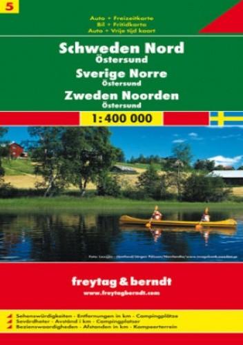 Okładka książki Szwecja cz. 5 część północna. Mapa samochodowa