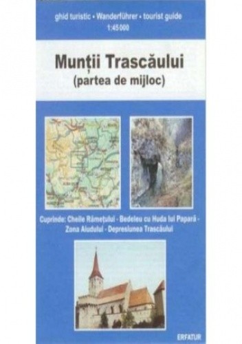 Okładka książki Góry Trascaului (część środkowa). Mapa