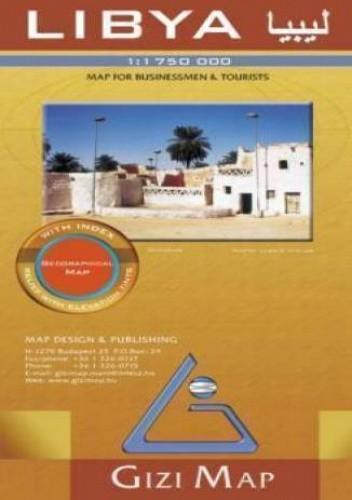 Okładka książki Libia / Libya. Mapa geograficzna (Gizi Map)