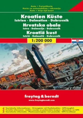 Okładka książki Wybrzeże Chorwacji. Mapa samochodowa