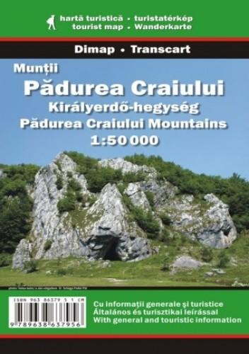Okładka książki Góry Padurea Craiului. Mapa turystyczna