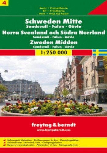 Okładka książki Szwecja cz. 4 część środkowa. Mapa samochodowa