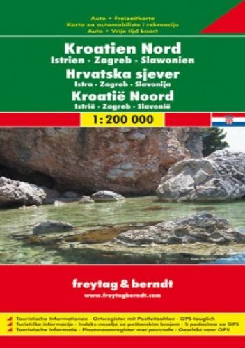 Okładka książki Chorwacja Istria cz. północna. Mapa samochodowa