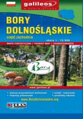Okładka książki Bory Dolnośląskie. Część zachodnia. Mapa [Galileos]
