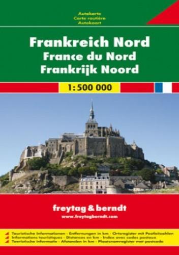 Okładka książki Francja Północna - mapa
