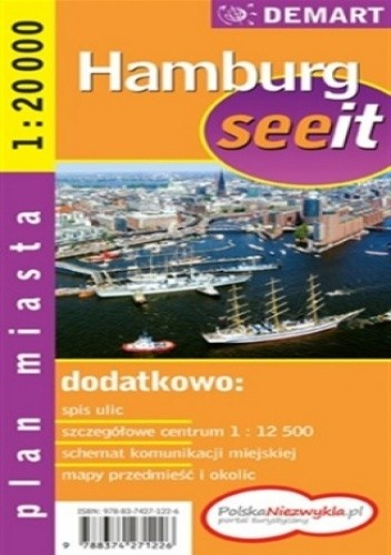 Okładka książki Hamburg. Plan miasta (See it)