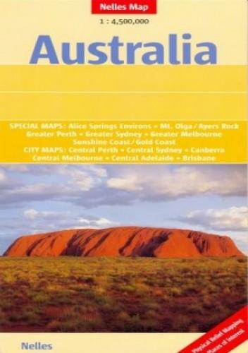 Okładka książki Australia. Mapa