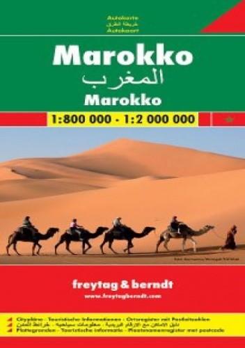 Okładka książki Maroko. Mapa Freytag & Berndt 1:800 000 / 1:2 000 000