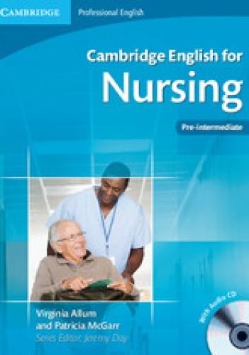 Okładka książki Cambridge English for Nursing Pre-intermediate