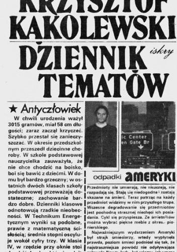Okładka książki Dziennik tematów