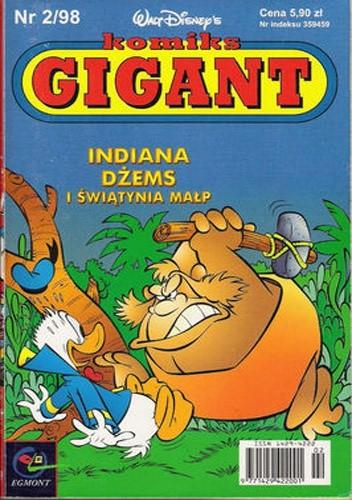 Okładka książki Gigant 2/98: Indiana Dżems i Świątynia Małp