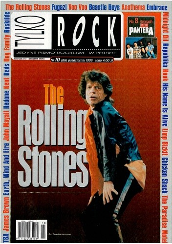 Okładka książki Tylko Rock, nr 10 (86) / 1998
