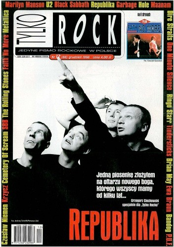 Okładka książki Tylko Rock, nr 12 (88) / 1998