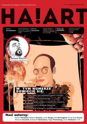Okładka książki Ha!art – interdyscyplinarny magazyn kulturalno-artystyczny, nr 41, 2013