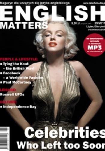 Okładka książki English Matters, 29/2011 (lipiec/sierpień)