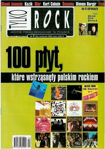 Okładka książki Tylko Rock, nr 4 (92) / 1999