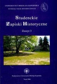 Okładka książki Studenckie zapiski. zeszyt 3