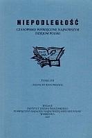 Okładka książki Niepodległość. Czasopismo poświęcone najnowszym dziejom Polski. Tom LVII