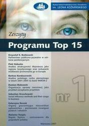 Okładka książki zeszyty Top 15